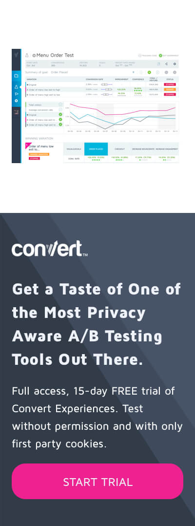 Start Free Trial of Convert Experiences